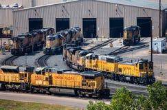 Oficina de reparações locomotiva Fotos de Stock