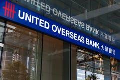 Oficina de ultramar unida de la sucursal bancaria Imagen de archivo libre de regalías