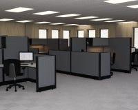 Oficina de ventas del negocio, cubículos, cubos imagen de archivo libre de regalías