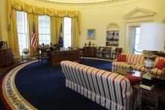 Oficina del óvalo del presidente Clinton Imagenes de archivo