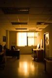 Oficina del cargo por la tarde Fotografía de archivo libre de regalías