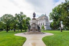 Oficina del viaje de la casa del estado en Indianapolis Indiana During Summer fotos de archivo libres de regalías