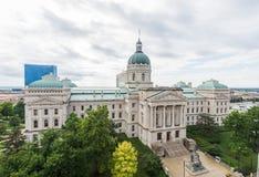 Oficina del viaje de la casa del estado en Indianapolis Indiana During Summer imagen de archivo