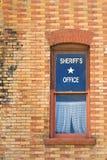 Oficina del viejo sheriff del oeste Fotos de archivo