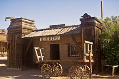 Oficina del viejo sheriff occidental Fotografía de archivo