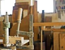 Oficina do carpinteiro fotos de stock
