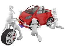 Oficina do carro ilustração royalty free