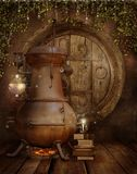 Oficina do fairy da fantasia ilustração stock