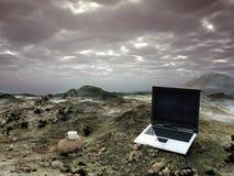 Oficina en el desierto Fotografía de archivo