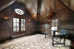 Oficina en hogar de lujo Fotografía de archivo libre de regalías