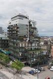 Oficina excepcional y edificio comercial en la tubería del offenbach, Hesse, Alemania fotos de archivo