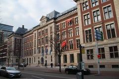 Oficina gubernamental de la oficina para planear, oficina cultural CPB del plan en el Bezuidenhoutseweg en Den Haag The Hague foto de archivo libre de regalías