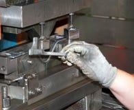 Oficina - imprensa de formação do metal imagem de stock royalty free