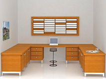 oficina moderna 3d Imagen de archivo libre de regalías