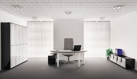 Oficina moderna 3d interior Fotografía de archivo