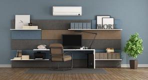 Oficina moderna azul y marrón libre illustration