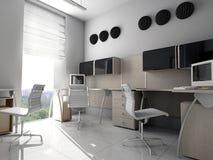 Oficina moderna en Verde Foto de archivo