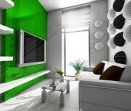 Oficina moderna en Verde Fotos de archivo