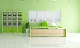 Oficina moderna verde Foto de archivo libre de regalías