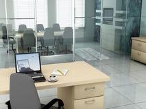 Oficina por la mañana foto de archivo libre de regalías