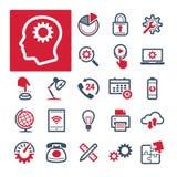 Oficina, productividad y comunicación (parte 2) ilustración del vector