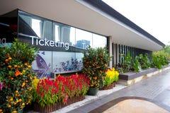 Oficina que marca para los jardines por la bahía, Singapur Fotografía de archivo libre de regalías