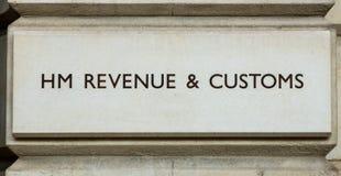 Oficina recaudatoria británica foto de archivo