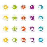 Oficina simple de los iconos (vector) Imagen de archivo