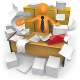 Oficina sucia Imágenes de archivo libres de regalías