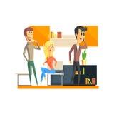 Oficina Team Relaxing stock de ilustración