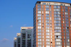 Oficina y bloques de apartamentos modernos Imagen de archivo