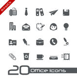 Oficina y fundamentos de los iconos del asunto Imagen de archivo