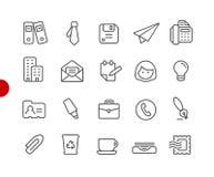 Oficina y serie roja del punto de //de los iconos del negocio libre illustration