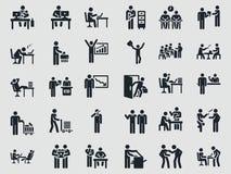 Oficinista de los días laborables FIGURA DEL PALILLO Imagenes de archivo