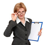 Oficinista de sexo femenino Fotografía de archivo