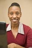 Oficinista del afroamericano Fotos de archivo
