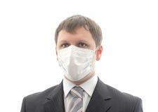 Oficinista en la máscara médica. fotografía de archivo