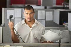 Oficinista frustrado imágenes de archivo libres de regalías