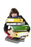 Oficinista tensionado Imagen de archivo libre de regalías