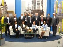 Oficjalna delegacja od Ukraina Fotografia Royalty Free