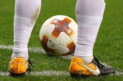 Oficjalna UEFA Europa Ligowego dopasowania piłka Zdjęcia Royalty Free