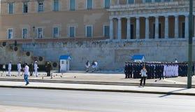 Oficjalna wizyta Bułgarski prezydent w Ateny, Grecja na Czerwu 23, 2017 ATENY GRECJA, CZERWIEC, - 23: Z Obraz Royalty Free