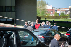 Oficjalna Wizyta Strasburg - Królewska wizyta Obraz Stock