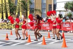 Cheerleaders w czerwieni Obrazy Stock