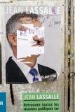 Oficjalni kampania plakaty Jean Lassalle partii politycznej leade Fotografia Royalty Free