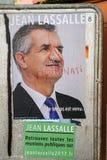 Oficjalni kampania plakaty Jean Lassalle partii politycznej leade Zdjęcia Royalty Free