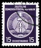 Oficjalni znaczki dla administracji Wysyłają b, seria, około 1954 (Ja) zdjęcia stock