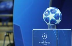 Oficjalny balowy uefa champions league fotografia stock