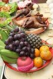 Ofrecimiento de la comida del antepasado Foto de archivo