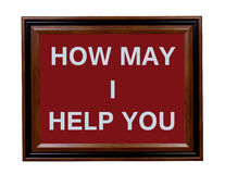 Ofrecimiento de la muestra de la ayuda Imagen de archivo libre de regalías